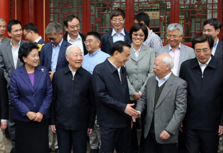 李克强总理考察北京大学